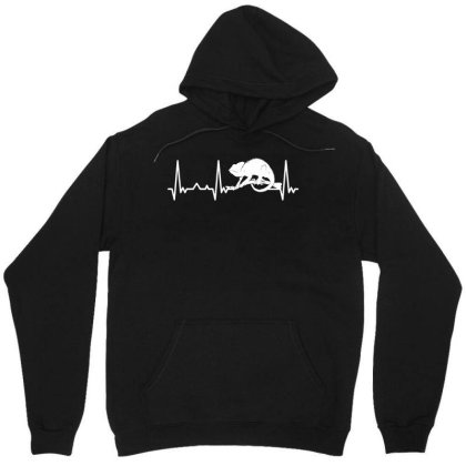 Reptile Animal Heartbeat Pet Chameleon Unisex Hoodie Designed By G3ry