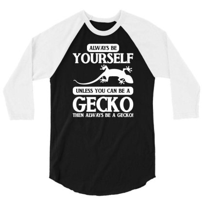 Reptile Gecko 3/4 Sleeve Shirt Designed By G3ry