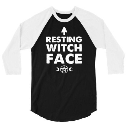 Resting Witch Face   Goth 3/4 Sleeve Shirt Designed By G3ry