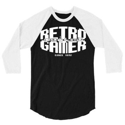 Retro Gamer 3/4 Sleeve Shirt Designed By G3ry