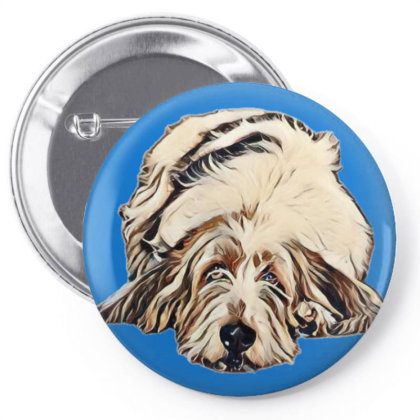 Cute Large Basset Hound And Bying Fla Pin-back Button Designed By Kemnabi