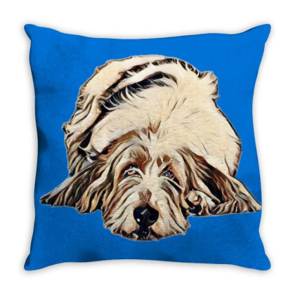 Cute Large Basset Hound And Bying Fla Throw Pillow Designed By Kemnabi