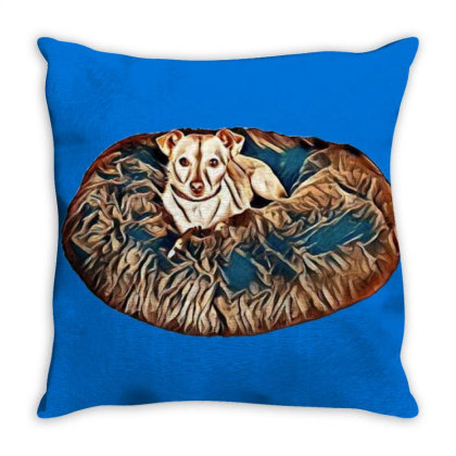 Pampered Little Chihuahua Cro Throw Pillow Designed By Kemnabi