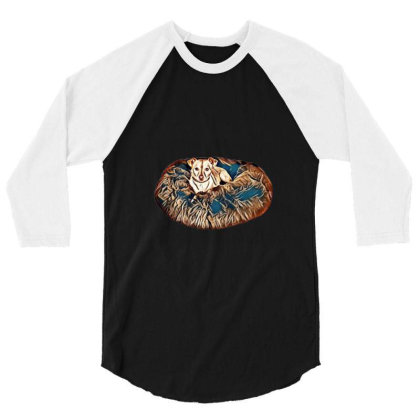 Pampered Little Chihuahua Cro 3/4 Sleeve Shirt Designed By Kemnabi