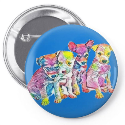 Litter Of Cute Scruffy Mixed Pin-back Button Designed By Kemnabi