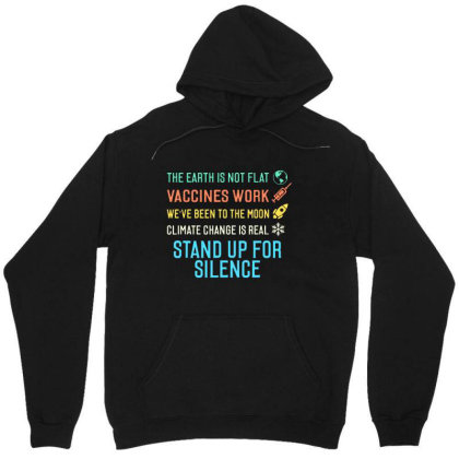 The Earth Is Not Flat Stand Up For Science Unisex Hoodie Designed By Star Store