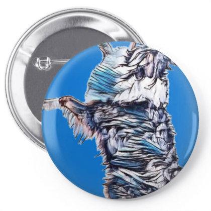Happy Australian Shepherd Dog Pin-back Button Designed By Kemnabi