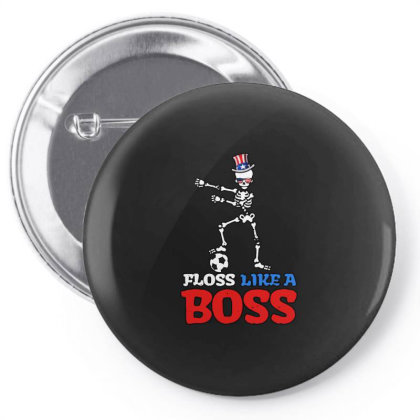 Skeleton Soccer Floss Dance 4th Of July Pin-back Button Designed By Star Store
