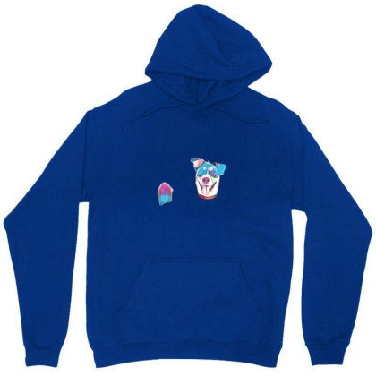 Happy And Smiling Mixed Breed Unisex Hoodie Designed By Kemnabi