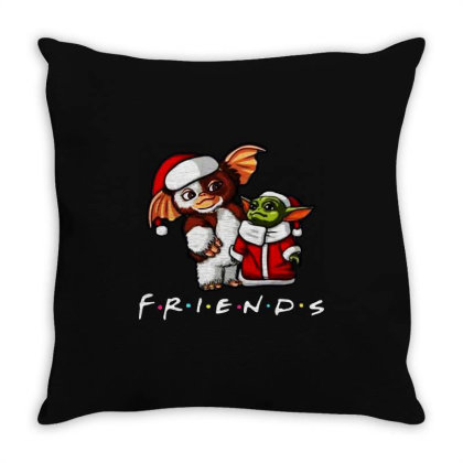 Santa Friends Throw Pillow Designed By Star Store