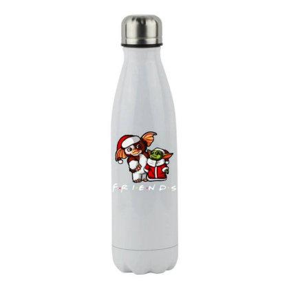 Santa Friends Stainless Steel Water Bottle Designed By Star Store