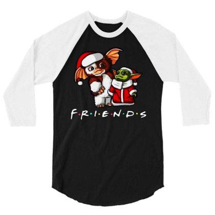 Santa Friends 3/4 Sleeve Shirt Designed By Star Store
