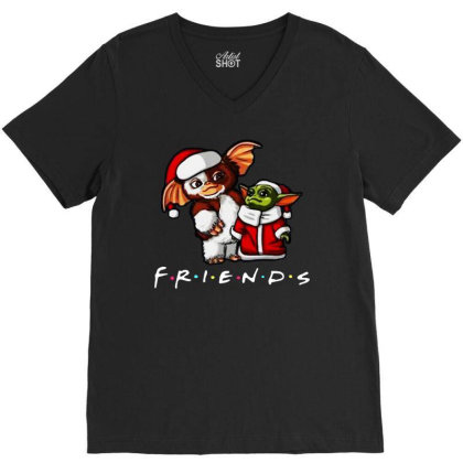 Santa Friends V-neck Tee Designed By Star Store