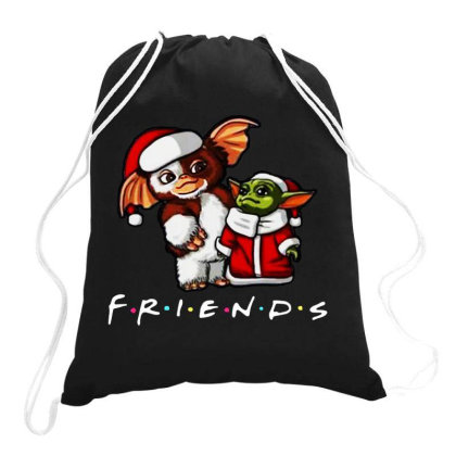 Santa Friends Drawstring Bags Designed By Star Store