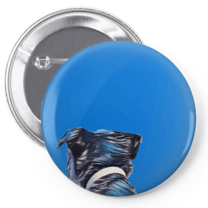 View Of The Back Of A Dog Loo Pin-back Button Designed By Kemnabi