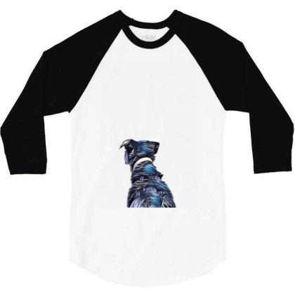 View Of The Back Of A Dog Loo 3/4 Sleeve Shirt Designed By Kemnabi