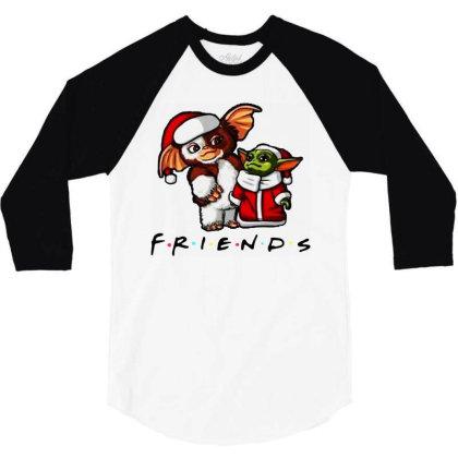 Santa Friends  2020 3/4 Sleeve Shirt Designed By Star Store