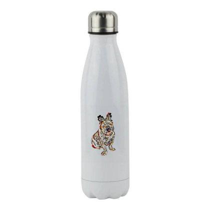 Cute Photo Of Bulldog Breed D Stainless Steel Water Bottle Designed By Kemnabi