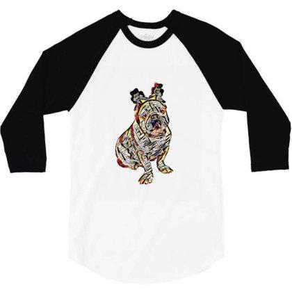 Cute Photo Of Bulldog Breed D 3/4 Sleeve Shirt Designed By Kemnabi