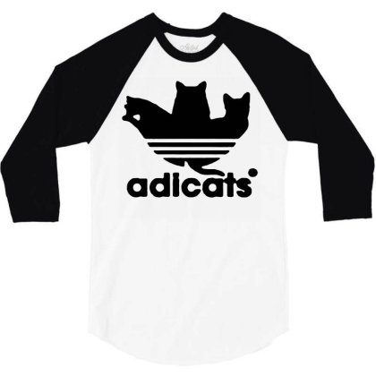 Adicats T Shirt Parody Funny Cat Gift For Cat Lover T Shirt 01 3/4 Sleeve Shirt Designed By G3ry