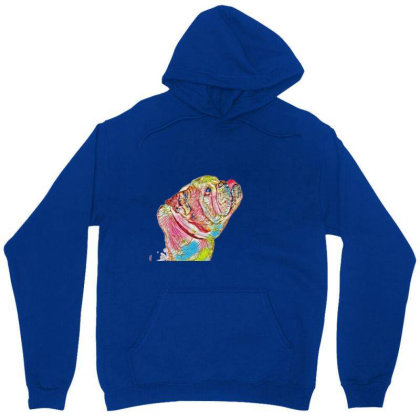 Side View Of Purebred Bulldog Unisex Hoodie Designed By Kemnabi