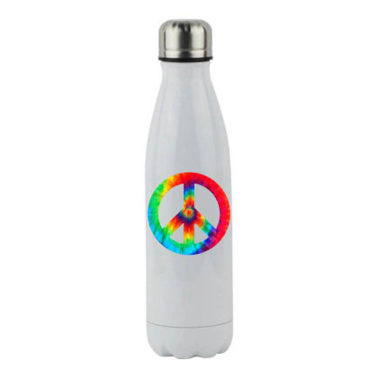 Peace Sign Stainless Steel Water Bottle Designed By Star Store