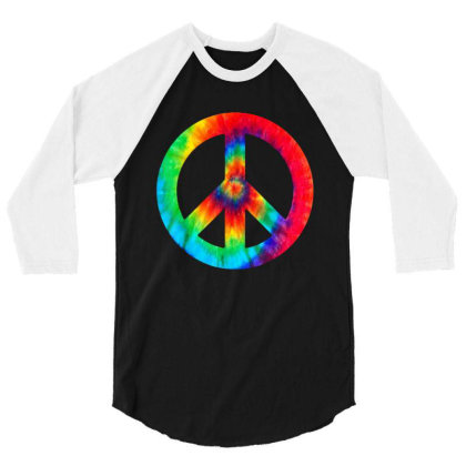 Peace Sign 3/4 Sleeve Shirt Designed By Star Store