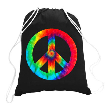 Peace Sign Drawstring Bags Designed By Star Store