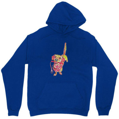 Happy Dog Wagging Tail With L Unisex Hoodie Designed By Kemnabi