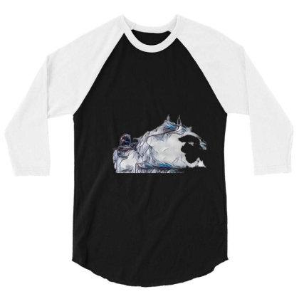 Little Terrier Dog Snarling A 3/4 Sleeve Shirt Designed By Kemnabi