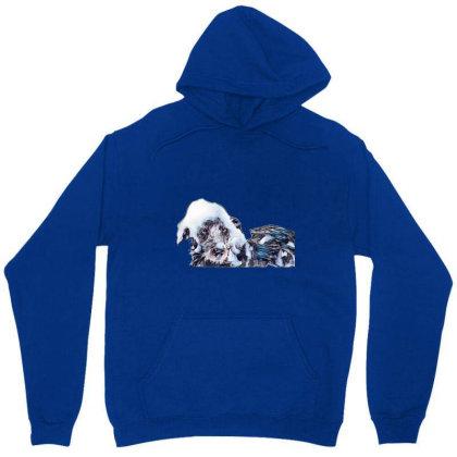 Wet Terrier Crossbreed Dog In Unisex Hoodie Designed By Kemnabi