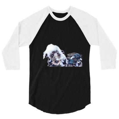 Wet Terrier Crossbreed Dog In 3/4 Sleeve Shirt Designed By Kemnabi