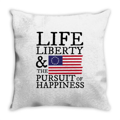 Life Liberty & The Pursuit Of Happiness 4th Of July Throw Pillow Designed By Star Store