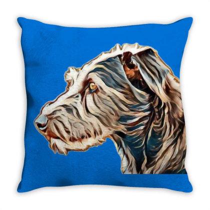 Closeup Portrait Of Shaggy Te Throw Pillow Designed By Kemnabi