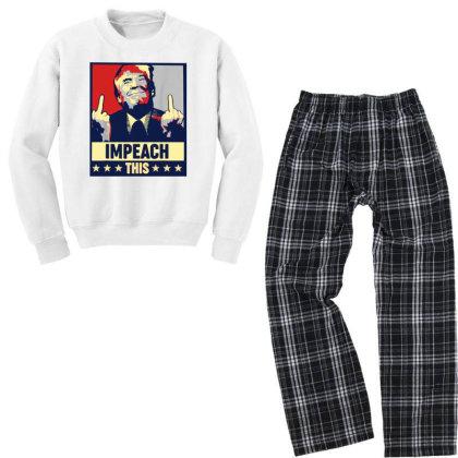Impeach This Trump Youth Sweatshirt Pajama Set Designed By Star Store