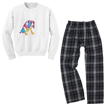 Annoyed Wet Dog Trying To Get Youth Sweatshirt Pajama Set Designed By Kemnabi