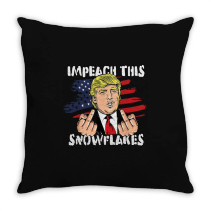 Impeach This Snowflakes Throw Pillow Designed By Star Store