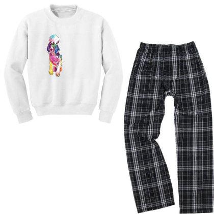Funny Dog In Bathtub With Sud Youth Sweatshirt Pajama Set Designed By Kemnabi