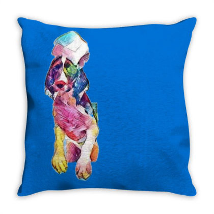Funny Dog In Bathtub With Sud Throw Pillow Designed By Kemnabi