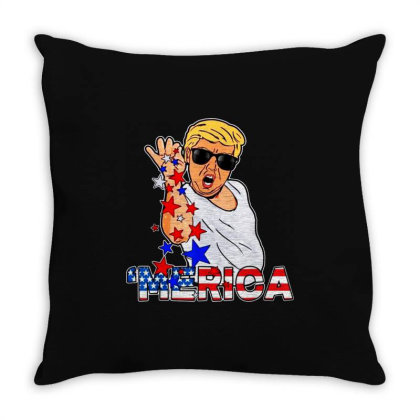 Funny Trump Salt Bae 4th Of July Throw Pillow Designed By Star Store