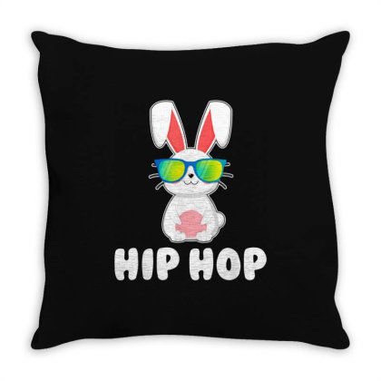 Funny Hip Hop Bunny Throw Pillow Designed By Star Store