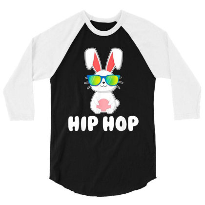 Funny Hip Hop Bunny 3/4 Sleeve Shirt Designed By Star Store