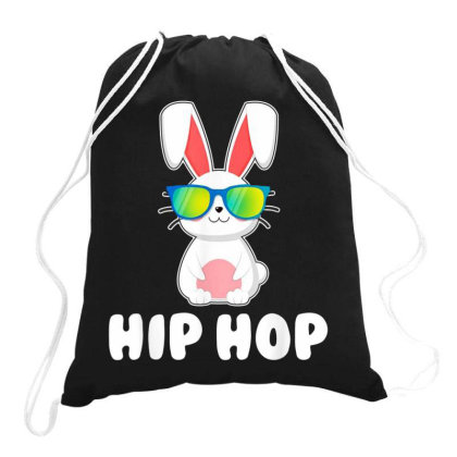 Funny Hip Hop Bunny Drawstring Bags Designed By Star Store