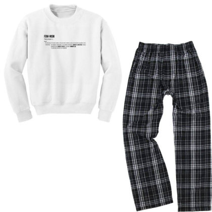 Feminism Youth Sweatshirt Pajama Set Designed By Disgus_thing