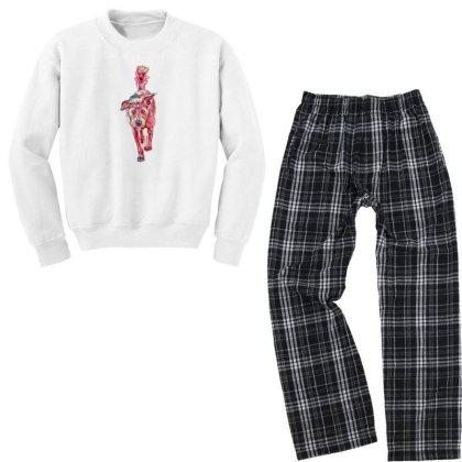 Medium Size Terrier Dog Walki Youth Sweatshirt Pajama Set Designed By Kemnabi