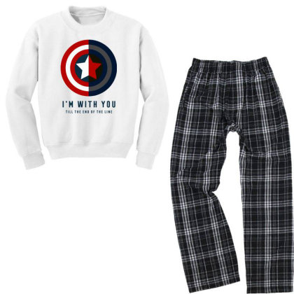 Funny Capatain Shield Youth Sweatshirt Pajama Set Designed By Star Store