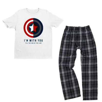 Funny Capatain Shield Youth T-shirt Pajama Set Designed By Star Store