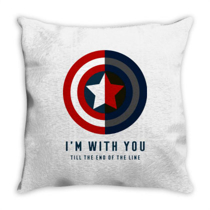 Funny Capatain Shield Throw Pillow Designed By Star Store