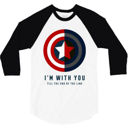 Funny Capatain Shield 3/4 Sleeve Shirt Designed By Star Store