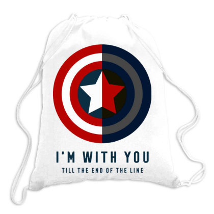 Funny Capatain Shield Drawstring Bags Designed By Star Store